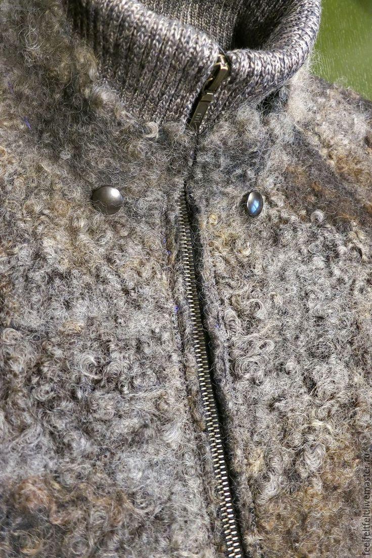 Купить Мужская бесшовная куртка из шерсти и флиса - мужская одежда, куртка мужская, зимняя мода
