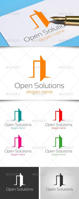 Open the Door Logo Design Template Vector #logotype Download it here:  http://graphicriver.net/item/open-the-door/4781786?s_rank=160?ref=nesto