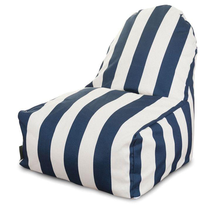 Vertical Stripe Bean Bag Lounger