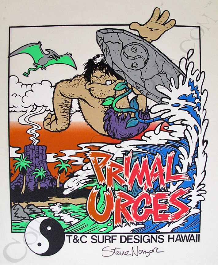 Tc surf designs primal urges proof print signed by steve nazar