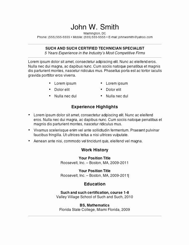 Resume For College Template Luxury English Cv Template Resume Format In Word Luxury Cv Templates 0d