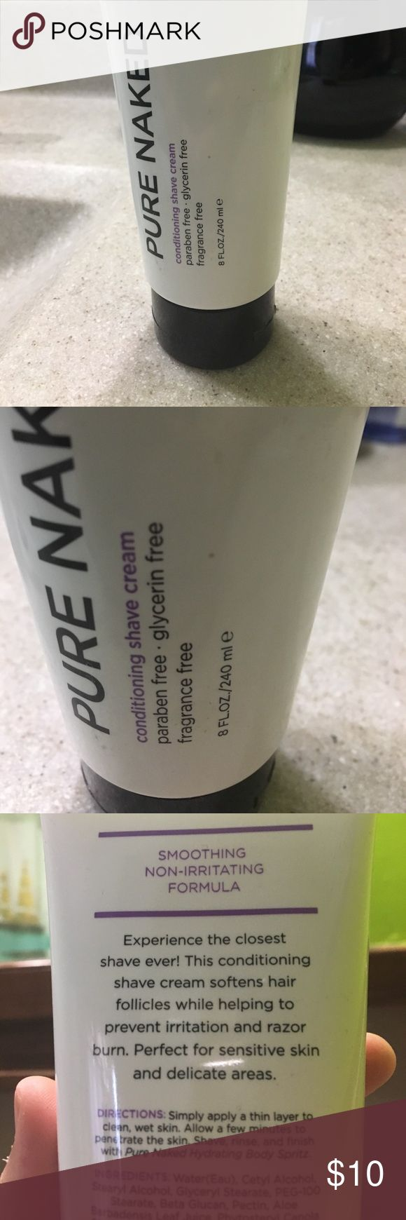 Pure Naked All Natural Conditioning Shave Cream This makes legs super soft after shaving (or whatever you shave 😊). It's never been used! Makeup