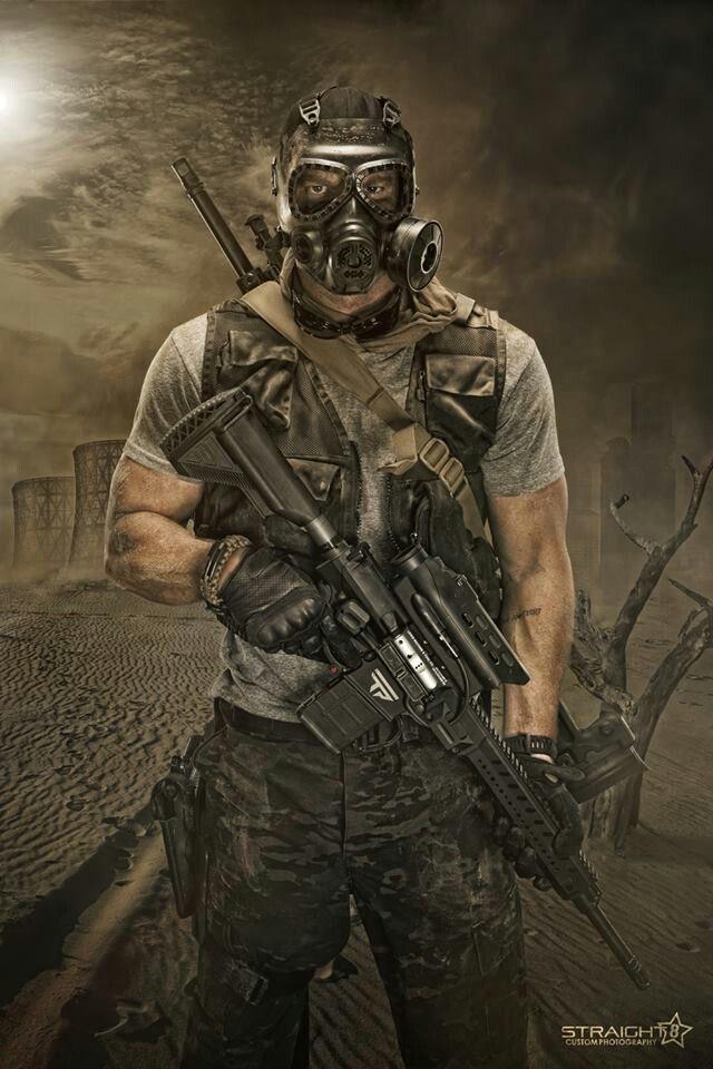 нефтяная картинка выжившего из апокалипсиса байдарки