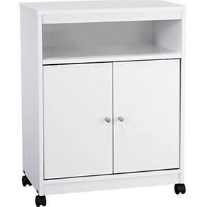 Ameriwood White Microwave Cart