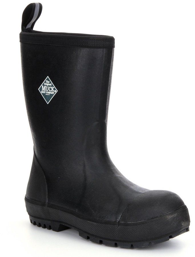 The Original Muck Boot Company Men's Chore-Resistant Waterproof Steel-Toe Boots