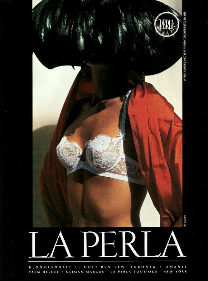 1984 VANITY FAIR   LINGERIE Nude woman  Magazine  Print Ad 4-pg