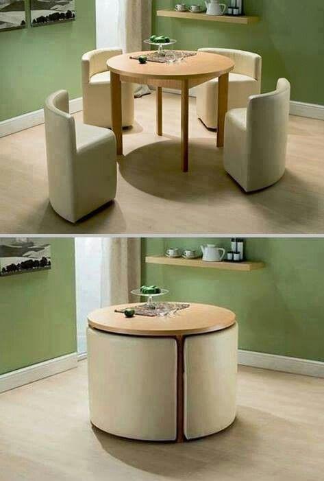 #Mesa de jantar perfeita para quem não tem muito espaço, né?! #criatividade #decoração #inspiração