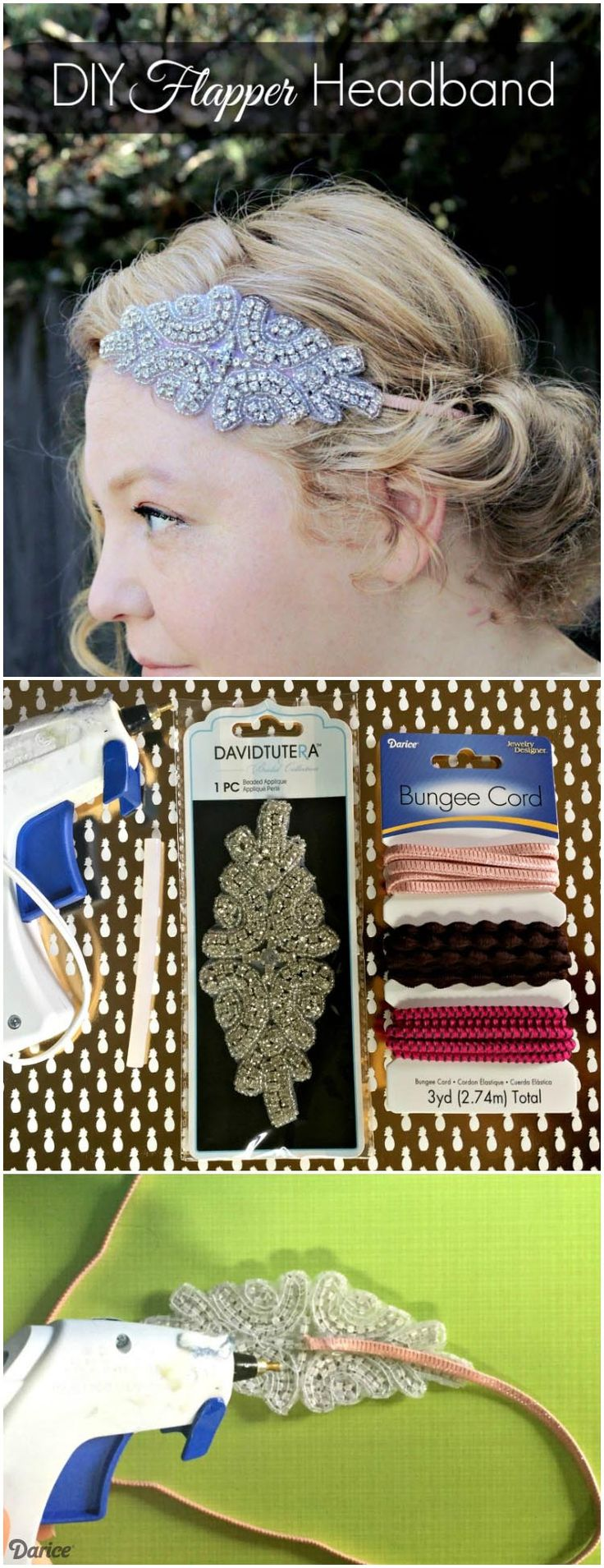 This easy DIY flapper headband is the perfect accessory for a 20's inspired wedding, prom, or bridesmaid look. Or rock it for an everyday, vintage look!