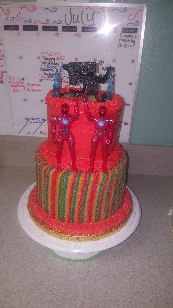 Best 25 Power Ranger Cake Ideas On Pinterest