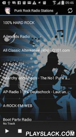 Punk Rock Radio Stations  Android App - playslack.com , Listen to the best puck rock music from around the world. Choose from over 60 live streams!Optimized for all mobile devices.Punk rock (or simply punk) is a rock music genre that developed between 1974 and 1976 and rooted in garage rock and other forms of what is now known as protopunk music.* Easy to use app with instant share function.* Turns radio automatically off, when you receive a call!* To share radio stations, press long and…