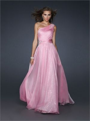 Beaded One Shoulder Pleated Sequined Chiffon Prom Dress PD10840  ----2013 Prom Dresses,Prom Dresses 2013,Prom Dresses,Prom Dresses UK,Prom Dresses 2013 UK,2013 Prom Dresses UK