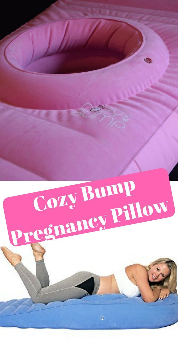 The Cozy Bump inflatable mattress allows pregnant women to lay on their stomachs with no risk to themselves or the baby. Read my Cozy Bump Review.