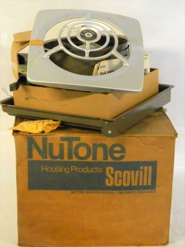 "New Old Stock Nutone 8010 Retro 8"" Kitchen Through Wall Exhaust Fan & Grille Vtg MCM In Box Scovill Mid Century Modern Vent #MCM #Nutone"