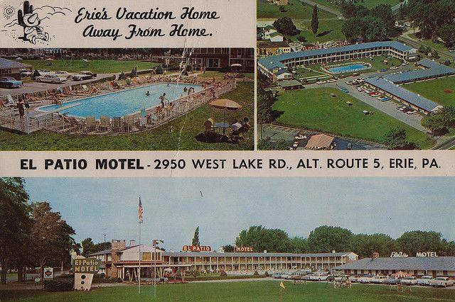 El Patio Motel - Erie, Pennsylvania   Vintage Motels and Hotels   Motel,  Presque isle state park, Places to visit - El Patio Motel - Erie, Pennsylvania Vintage Motels And Hotels