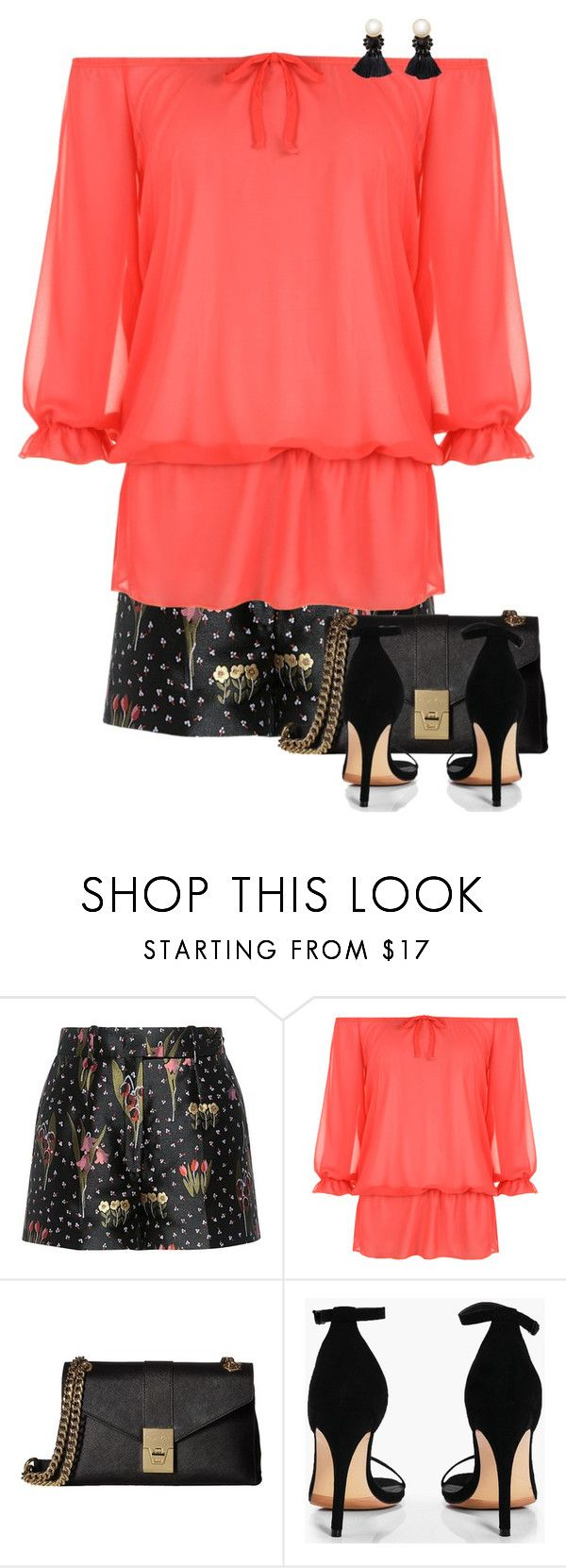 """""""Dress Up Your Shorts"""" by mcheffer ❤ liked on Polyvore featuring RED Valentino, WearAll, Calvin Klein, Boohoo, Violeta by Mango, shorts and prints"""