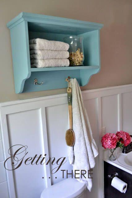 Bathroom Shelf and Towel Rack