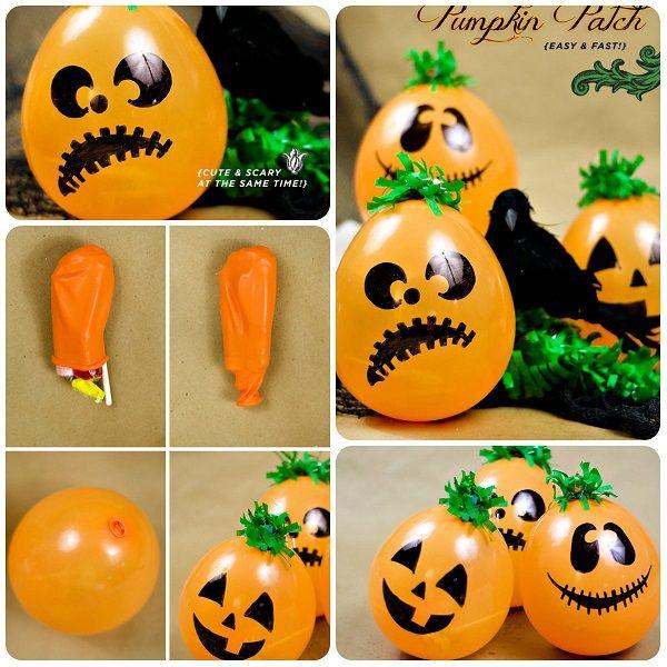 Come fare addobbi facili per Halloween. Tutorial per fare le zucche con i palloncini gonfiabili.
