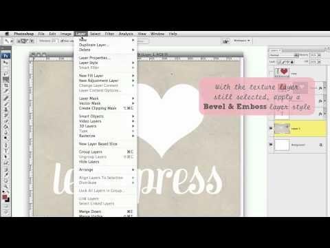 Letterpress effect in photoshop