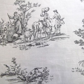 Charcoal Provence Fabric  #greys #dunelm
