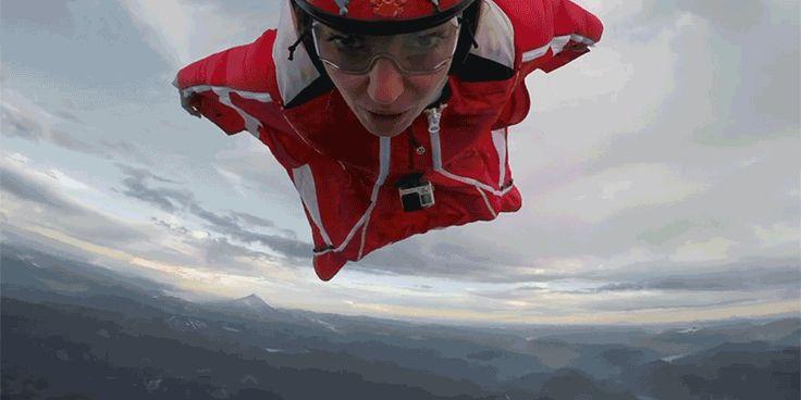 voar wingsuit vulcao