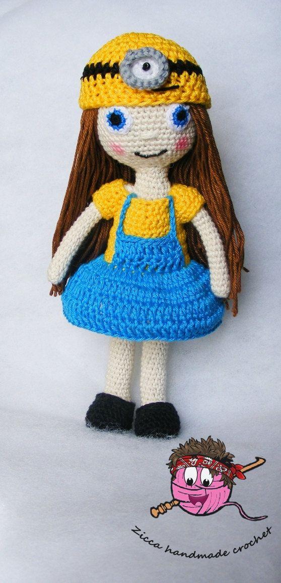 Crochet minion doll pattern by ZiccaHandmadeCrochet on Etsy