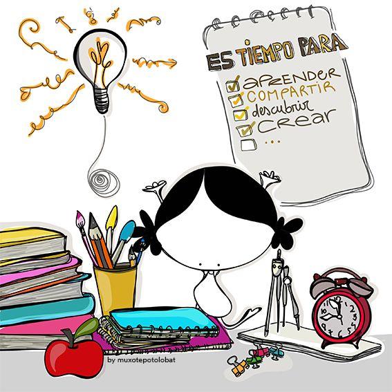 (siempre) es tiempo para aprender. Para compartir . Descubrir juntos/as. Soñar y crear. Es tiempo para seguir creciendo, recibir y y ofrecer(nos)… Eeeegunon mundo!! #VueltaAlCole #BackToSchool #volver ¡¡¡Compártelo!!!