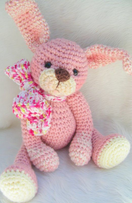Crochet Pattern Huggable Bunny by Teri Crews instant download PDF format
