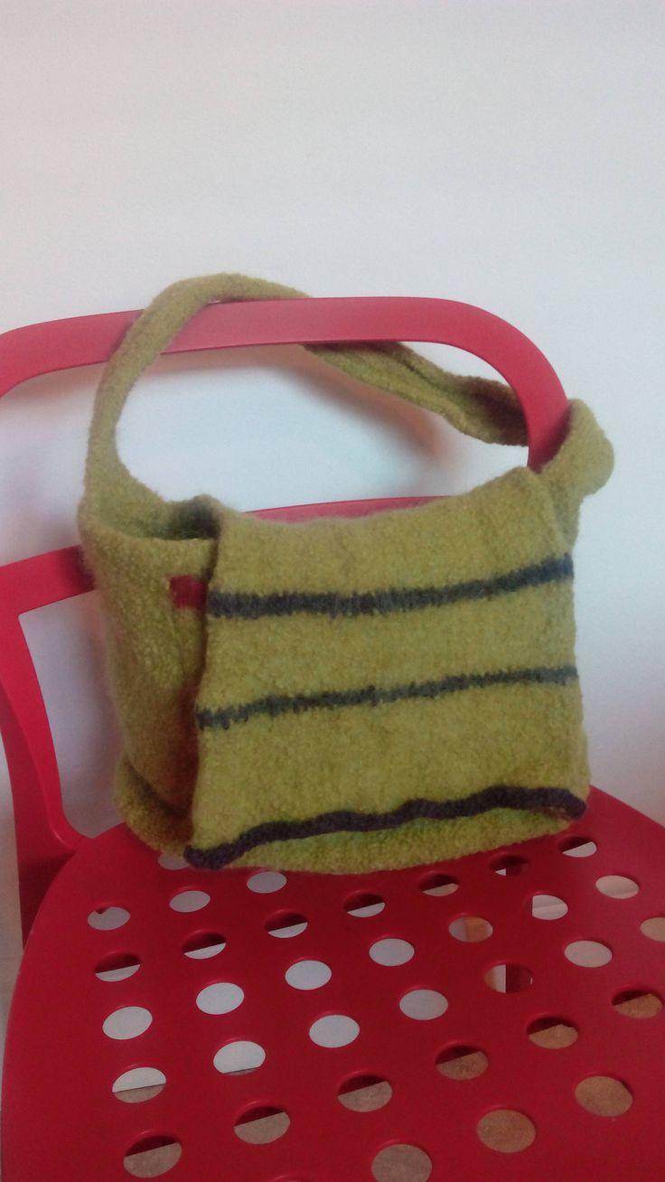 Handmade felt bag by Nokireki on Etsy