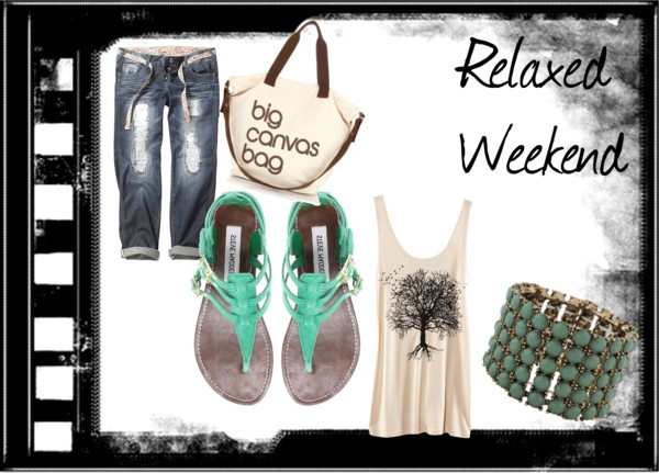 """""""Relaxed Weekend"""" by allanaaaa on Polyvore"""