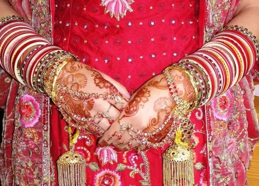 Indian bangles and henna tattoos.