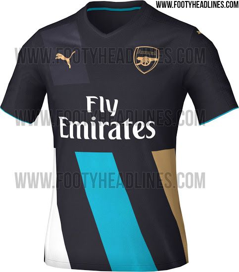 Arsenal 15-16 Third Kit Leaked - Footy Headlines