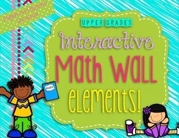 Interactive Math Walls aren't just for the lower grades! This 68 page pack will guide you through setting up your very own Math Wall in your classroom! Math Walls are a great way to keep students engaged and interested while reviewing different math concepts.