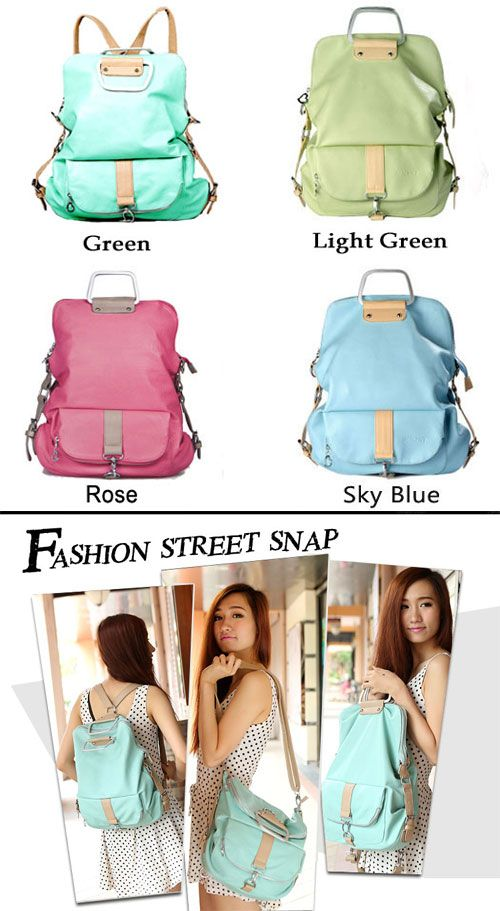 Which color do you want? unique bag in the world !!! Unique Fresh Multifunction Backpack & Handbag & Shoulder Bag  #backpack #unique #school #college #Bag
