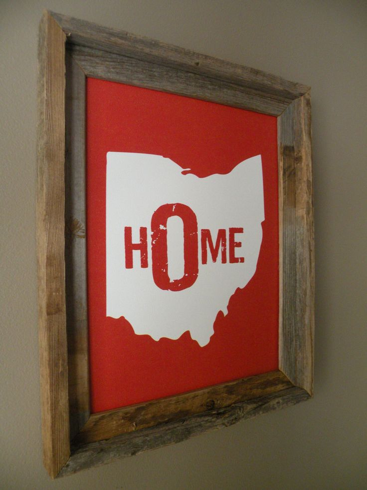Ohio Home Print: Red by fortheloveofmaps on Etsy - $22.00 ! #SoColumbus | www.SocialColumbus.com