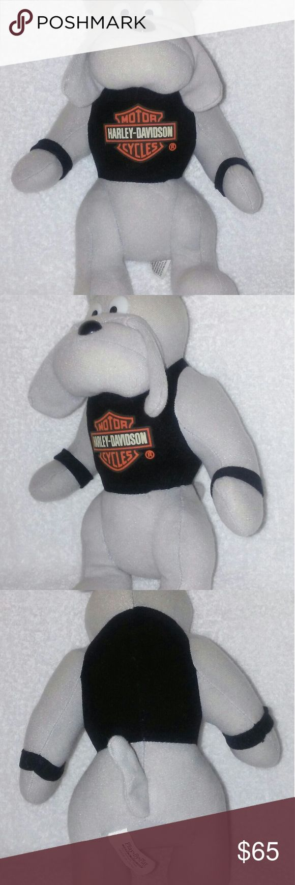 "Vintage Play by Play Harley-Davidson BullDog Plush You are viewing 1 Pre- Owned in Great Condition Vintage Harley Davison Plush Bulldog it stands 11 inches by 7 inches wide by 5 inches thick. It was made in China in 1993 that would make this Plush Toy 24 years Old and sold by play by play Toys & Novelties in San Antonio Texas, if by chance this might not be in your price range we are excepting offers but we will only take ""Serious Buyers Only play by Play Other"