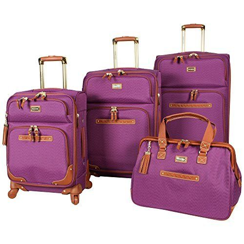 New Trending Luggage: Steve Madden 4 piece Luggage With Spinner Wheels (Purple). Steve Madden 4 piece Luggage With Spinner Wheels (Purple)  Special Offer: $299.99  433 Reviews Steven Madden Luggage Soft Side Luggage delivers great durability together with a fashionable design. It is made from nylon to provide your belongs with maximized protection. The use of 360...