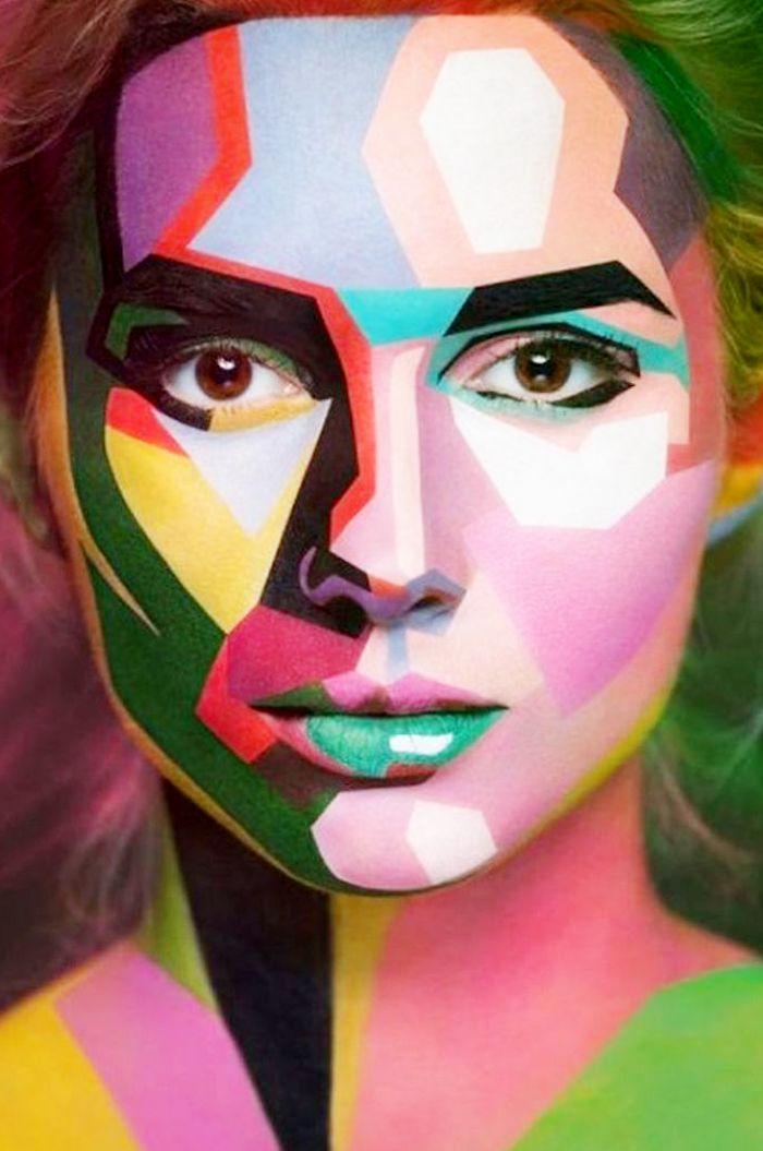 Modern art // Halloween makeup ideas