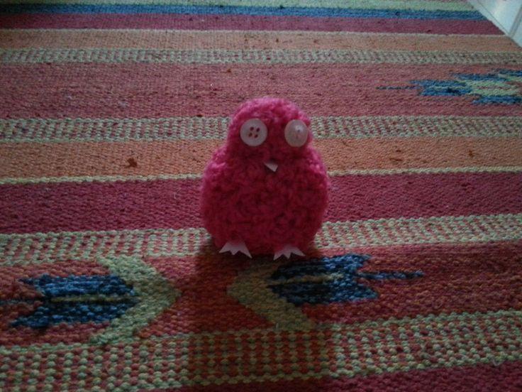 piccolo #pulcino realizzato con dei #ponpon