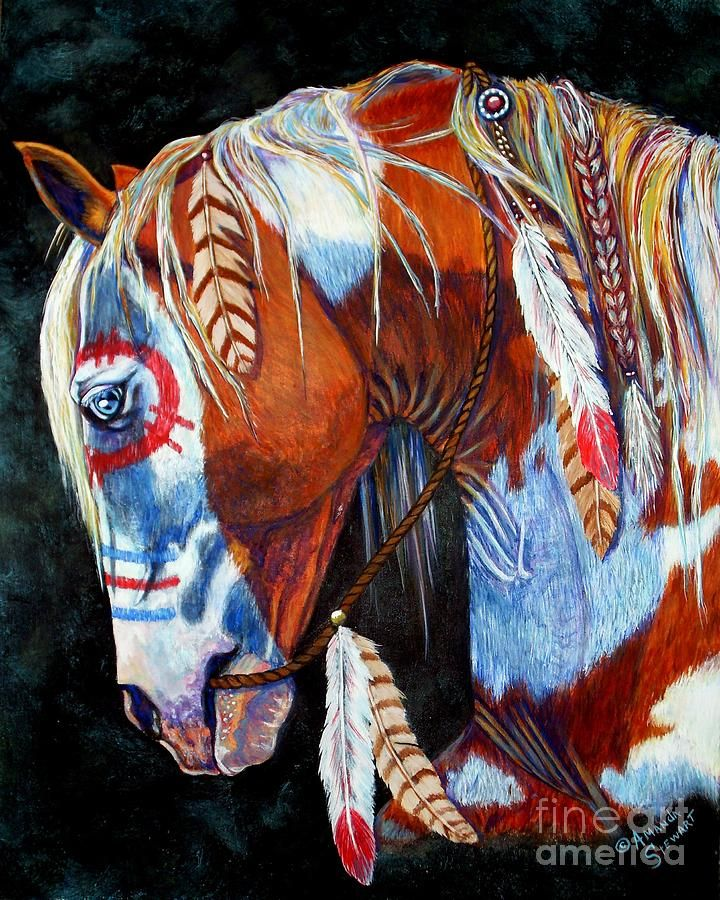 Indian War Pony Painting  - Indian War Pony Fine Art Print