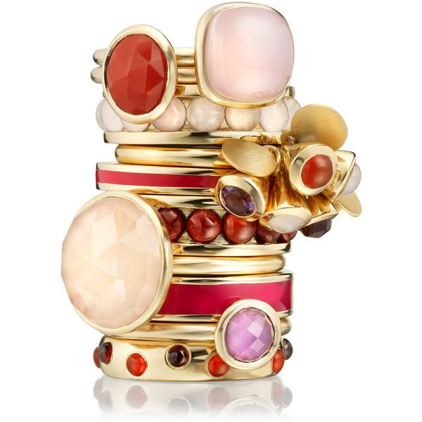 Astley Clarke Color Ruby Rose Enamel Rings: Stackable Rings, Astley Clarks, Clarks Rings, Color, Enamels Rings, Creme Jewelry, Clarks London, Stacking Jewellery, Design Jewelry