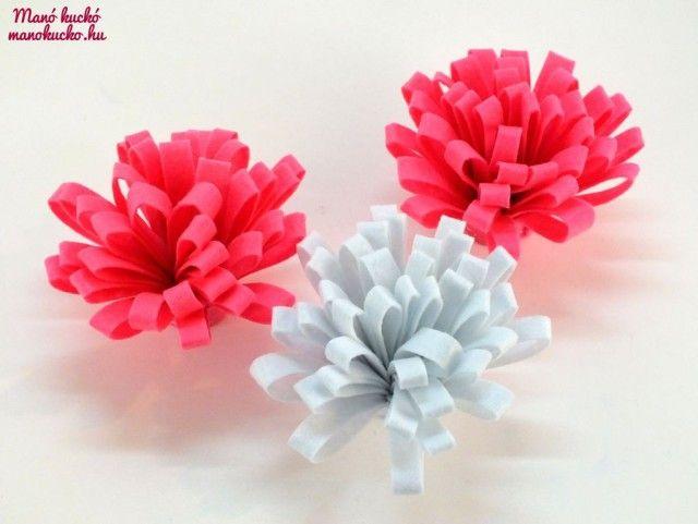 Egyszerűen elkészíthető, mutatós filc virág - Manó kuckó
