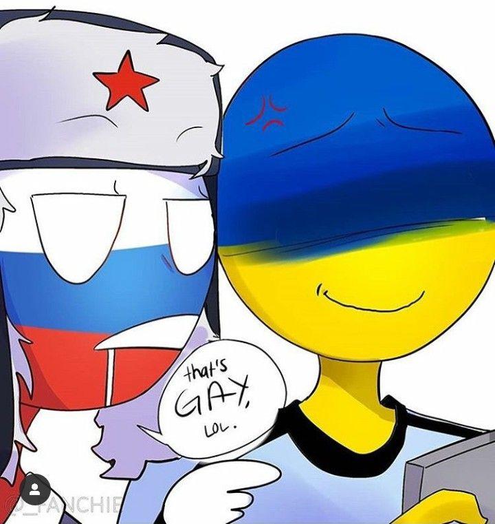 7/8 #Countryhumans #Ukraine #Russia | Веселые картинки ...