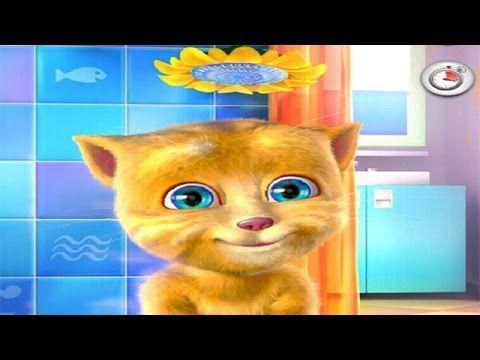My Talking Ginger Cat: Baby Cat Shower - My Talking Cat Game - http://www.gigglefinger.com/my-talking-ginger-cat-baby-cat-shower-my-talking-cat-game/