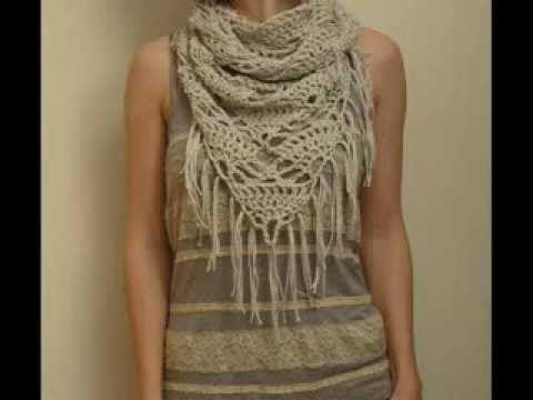 Triangle Cowl Pattern - Crochet Pattern Presentation - YouTube