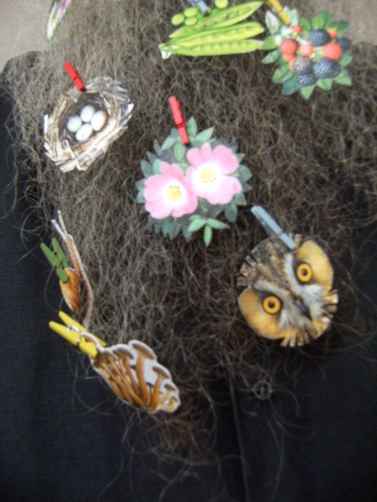 BEARD GALLERY - Opere di Barbara Fluvi installate sulla mia barba (Galleria Pensile)