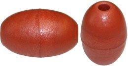 PVC-Schaumstoff-Schwimmer Nr. S, - ca. 65 x 100 mm x 12 mm Loch, Auftrieb: 190 g, Eiform, Farbe braun. ENGEL-NETZE® seit 1951