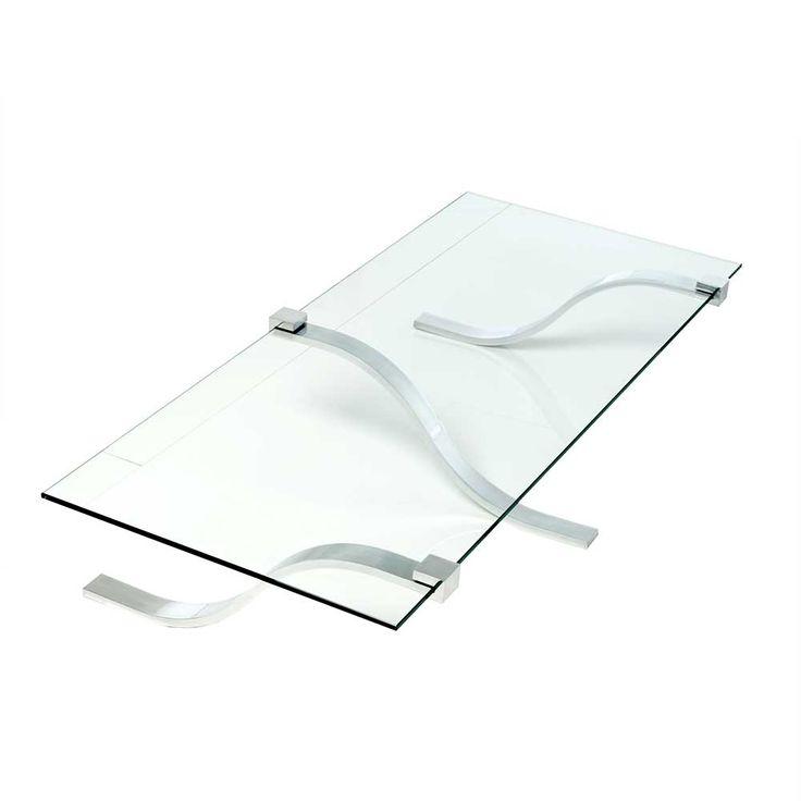 Glas Wohnzimmertisch Mit Ausgefallenem Metallgestell Modern Jetzt Bestellen Unter