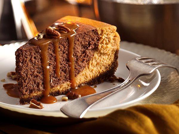 Thanksgiving 2012: Betty Crocker Chocolate Pumpkin Cheesecake Recipe : People.com