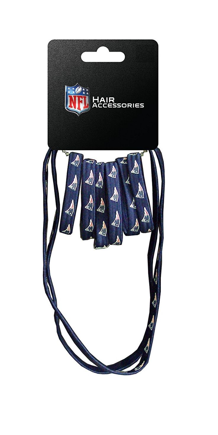 NFL New England Patriots Hair Accessory 6-Elastic Ponytail Bands and 2-Elastic Head Bands -- You can find more details by visiting the image link. (This is an affiliate link and I receive a commission for the sales)