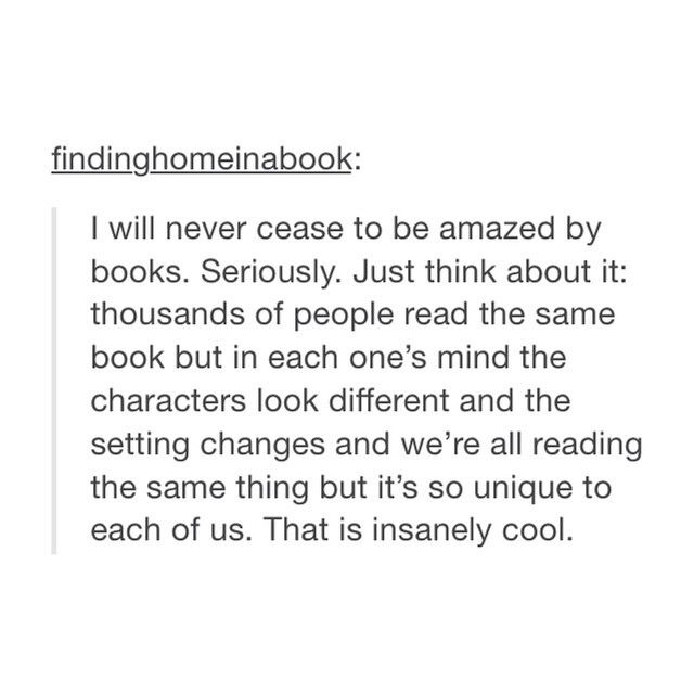 That.....that is so true....my life is a book